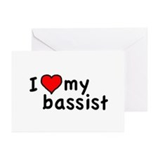 Love My Bassist Greeting Cards (Pk of 20)