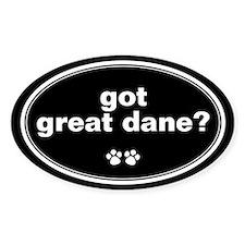 Got Great Dane? Oval Decal
