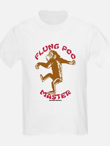 Flung Poo Master Kids T-Shirt