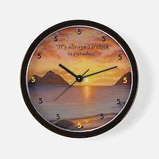 Morning Stretch Wall Clock