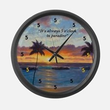 Ko Olina Always Paradise Large Wall Clock