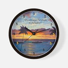 Ko Olina Always Paradise Wall Clock