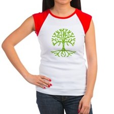 Distressed Tree III Women's Cap Sleeve T-Shirt