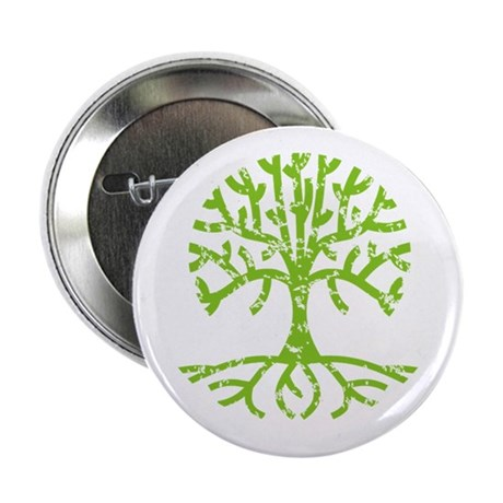 "Distressed Tree III 2.25"" Button"