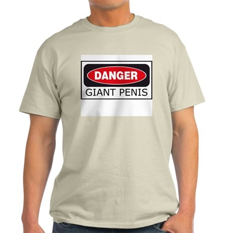 Danger: Giant Penis Ash Grey T-Shirt
