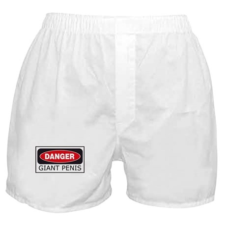 Danger: Giant Penis Boxer Shorts