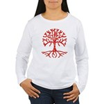 Distressed Tree I Women's Long Sleeve T-Shirt