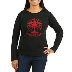 Distressed Tree I Women's Long Sleeve Dark T-Shirt