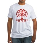Distressed Tree I Fitted T-Shirt