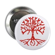 "Distressed Tree I 2.25"" Button"