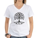 Distressed Tree II Women's V-Neck T-Shirt