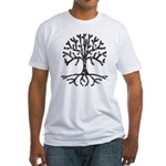Distressed Tree II Fitted T-Shirt