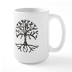 Distressed Tree II Large Mug