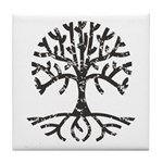 Distressed Tree II Tile Coaster