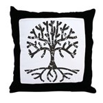 Distressed Tree II Throw Pillow