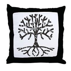 Distressed Tree II Throw Pillow