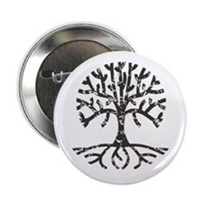 "Distressed Tree II 2.25"" Button"