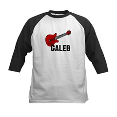 Guitar - Caleb Kids Baseball Jersey