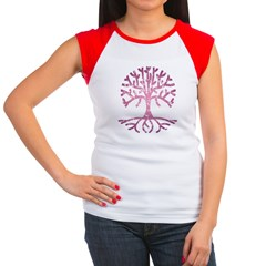Distressed Tree V Women's Cap Sleeve T-Shirt