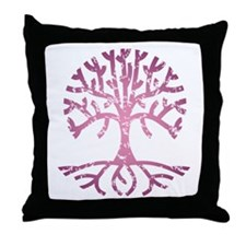 Distressed Tree V Throw Pillow
