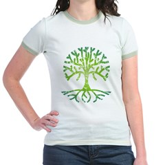 Distressed Tree VI Jr. Ringer T-Shirt