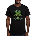 Distressed Tree VI Men's Fitted T-Shirt (dark)
