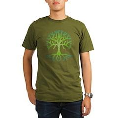 Distressed Tree VI Organic Men's T-Shirt (dark)