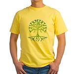 Distressed Tree VI Yellow T-Shirt