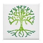 Distressed Tree VI Tile Coaster