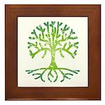 Distressed Tree VI Framed Tile