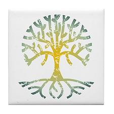 Distressed Tree VII Tile Coaster