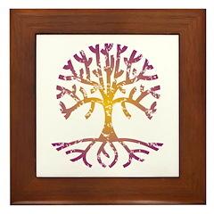 Distressed Tree VIII Framed Tile