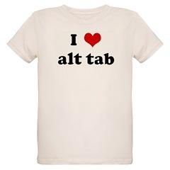 I Love alt tab Organic Kids T-Shirt