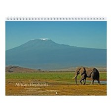 African Elephants Wall Calendar