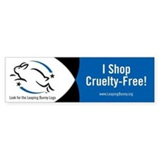 Leaping Bunny Bumper Sticker (Blue)
