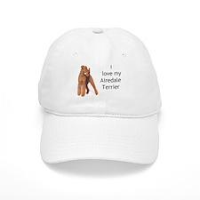 """I Love My Airedale Terrier"" Baseball Cap"