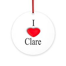 Clare Ornament (Round)