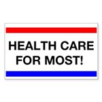 Health Care for Most Rectangle Sticker