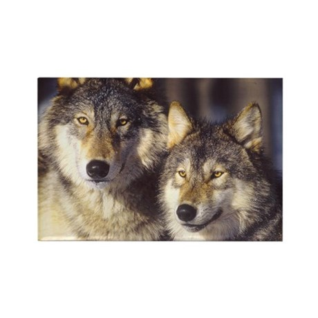 """""""Wolf Mates"""" Rectangle Magnet"""