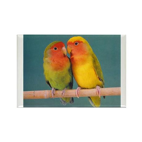 """""""Lovebirds"""" Rectangle Magnet"""