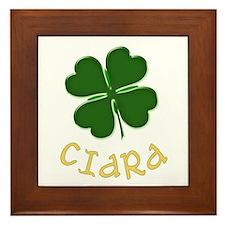 Ciara Irish Framed Tile
