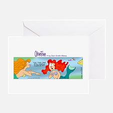 Funny Little mermaid Greeting Card