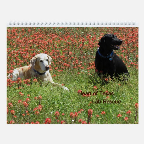 Heart Of Texas Lab Rescue Wall Calendar