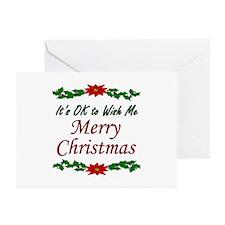 """Merry Christmas OK!"" Greeting Cards (Pk of 10)"