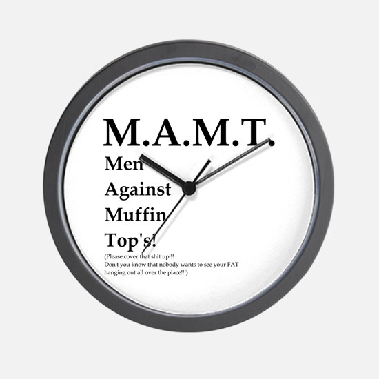 M.A.M.T. Just say No! Wall Clock