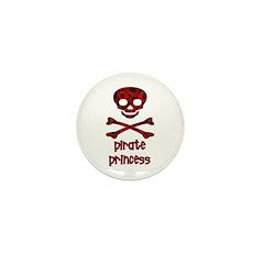 Pirate pricess rose design Mini Button (100 pack)
