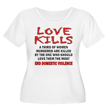 Love Kills Women's Plus Size Scoop Neck T-Shirt