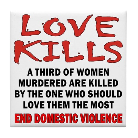 Love Kills Tile Coaster