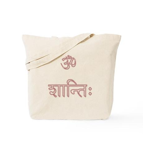 aum shanti Tote Bag