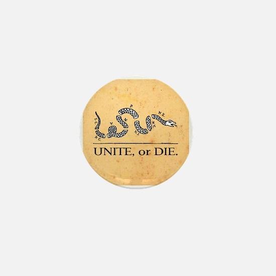 Unite or Die Mini Button